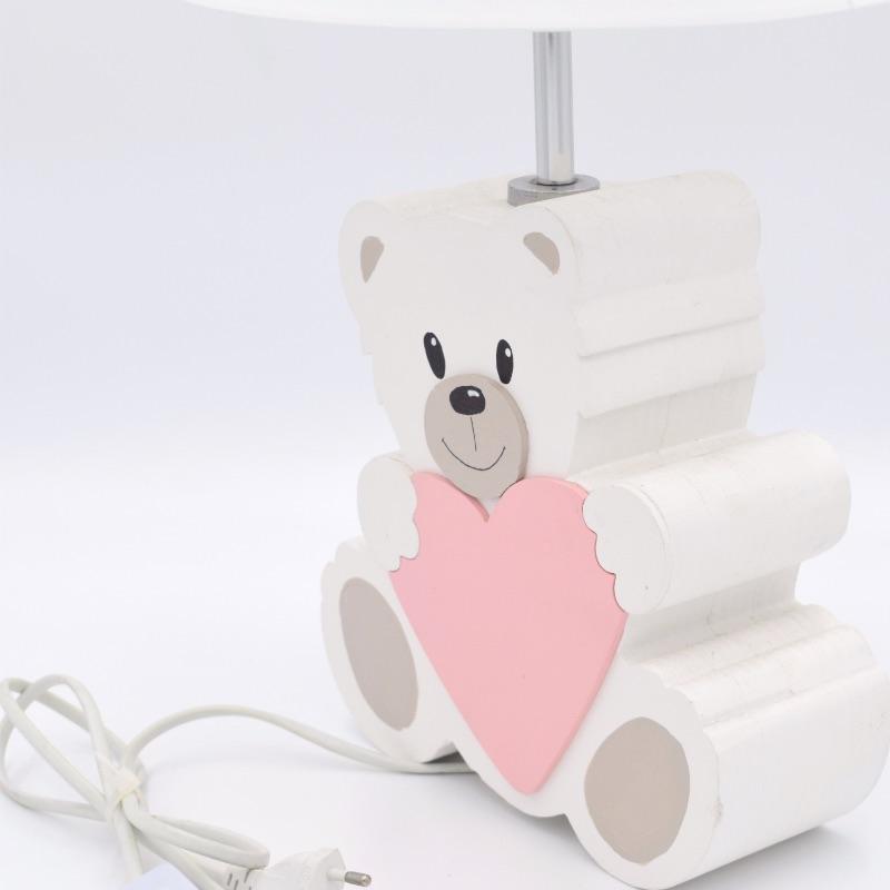 lampada orsetto rosa