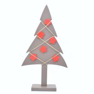 albero di Natale tortora stelle rosse