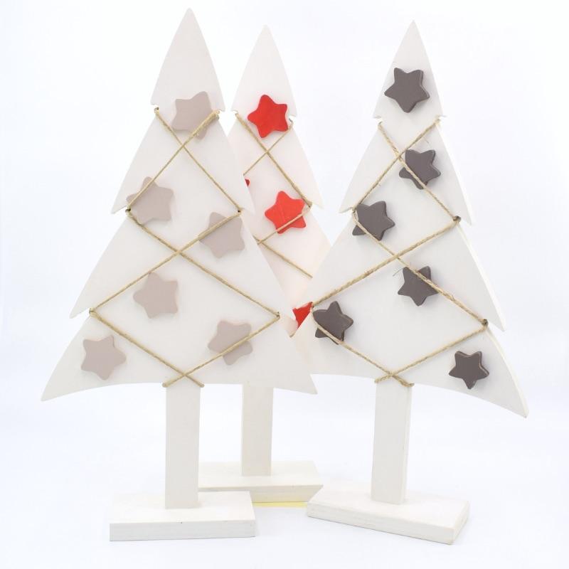 alberi di Natale colore bianco