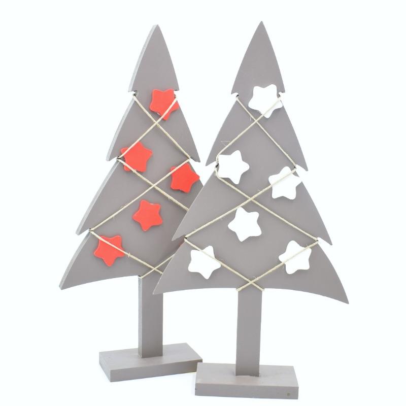 alberi di Natale colore tortora scuro
