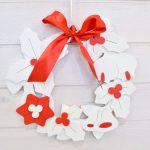 Ghirlanda di Natale bianco/rosso