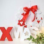 scritta XMAS rossa