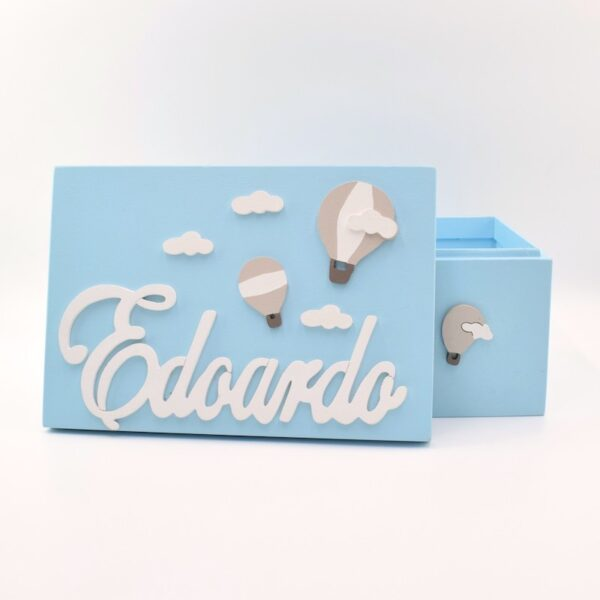 scatola dei ricordi mongolfiera azzurra