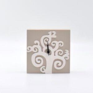 orologi albero della vita tortora chiaro e bianco