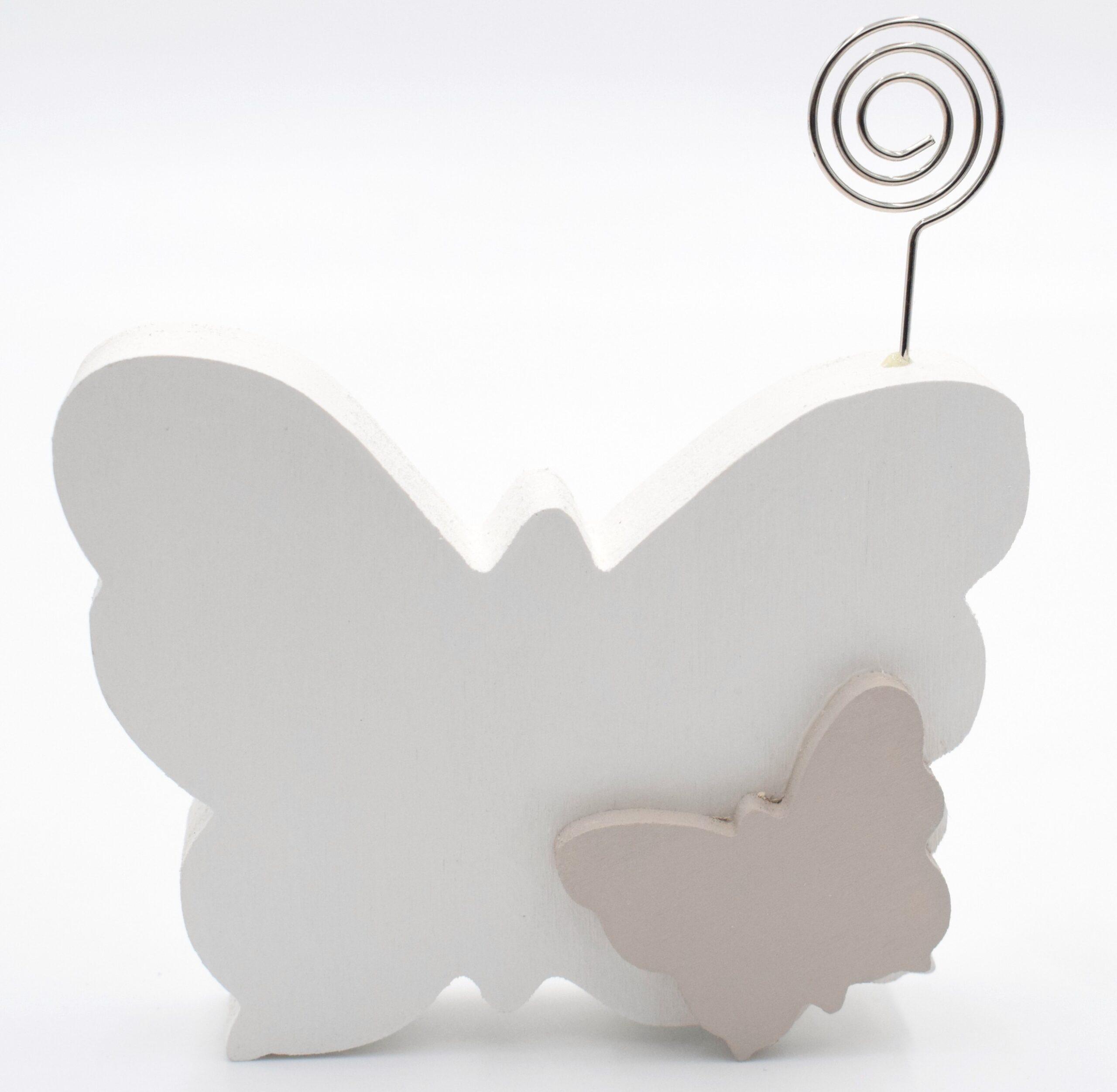 portafoto farfalla bianca