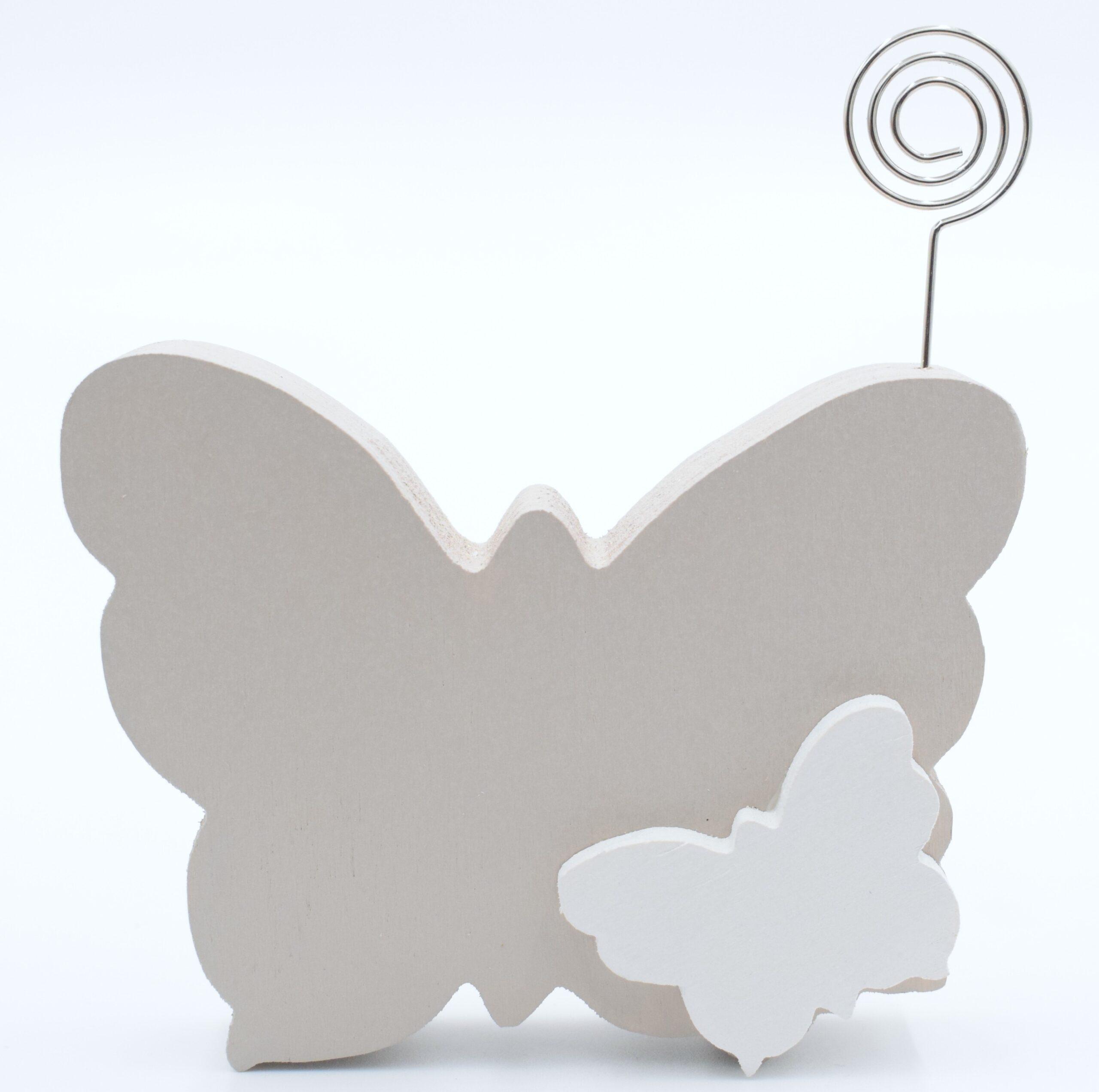 portafoto farfalla tortora chiaro