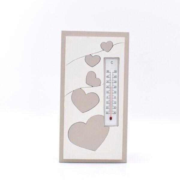 termometro cuori tortora chiaro